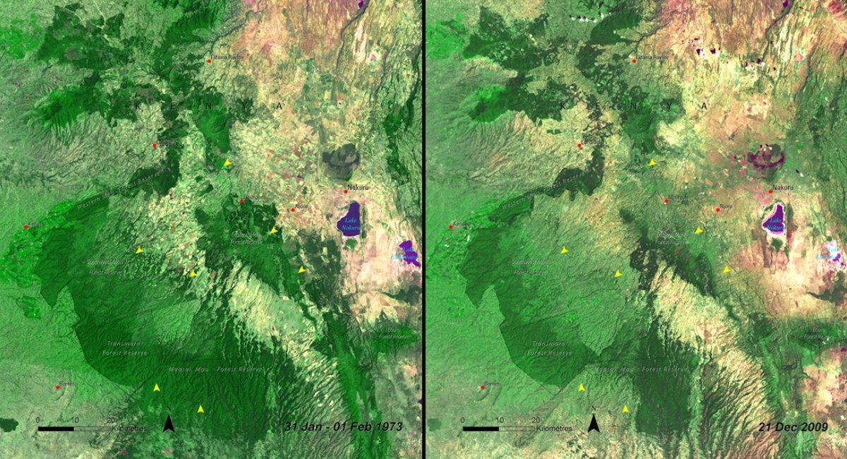 deforestation-of-mau-forest-kenya-jan-1973-vs-dec-2009