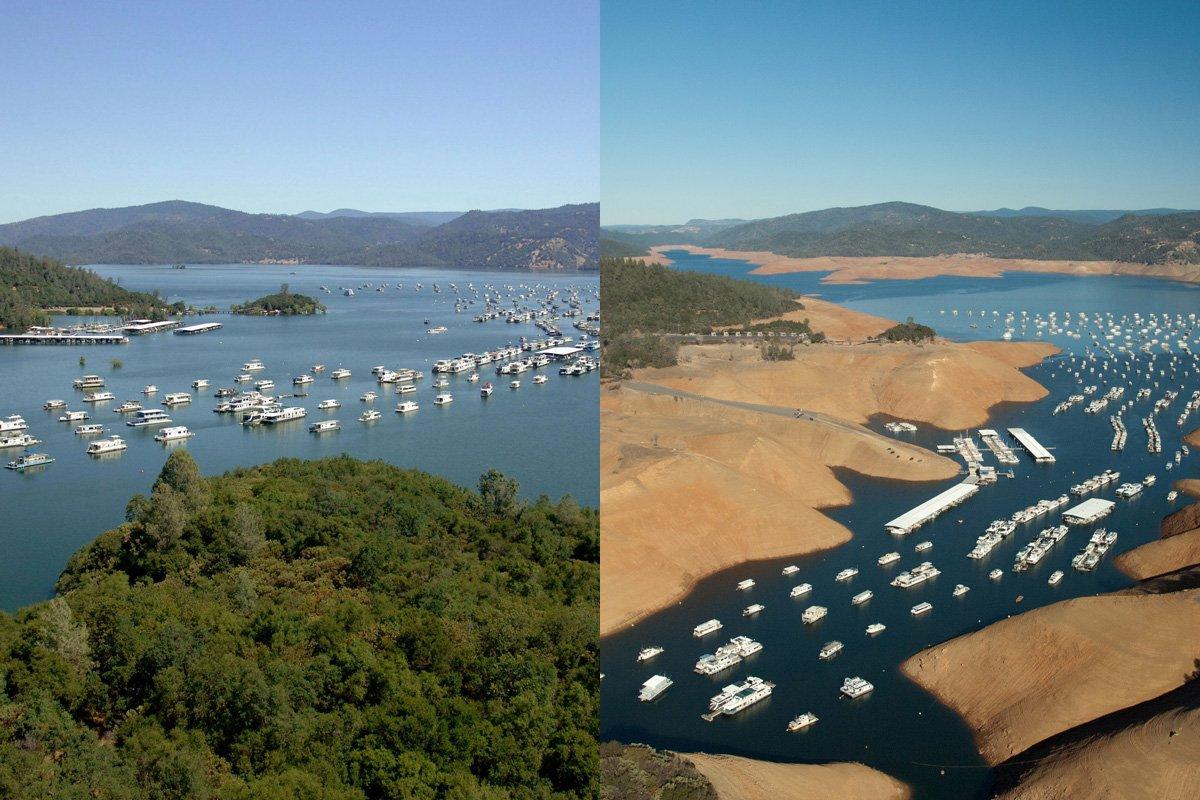 shrinking-lake-oroville-california-july-2011-vs-aug-2014