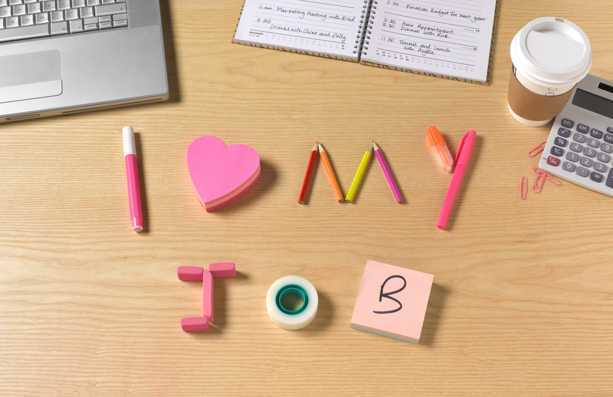 I love my job office desk