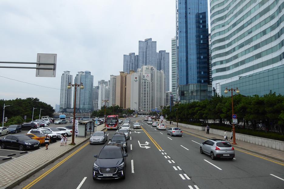 Nábrežie pozdĺž pláže Haeundae Beach