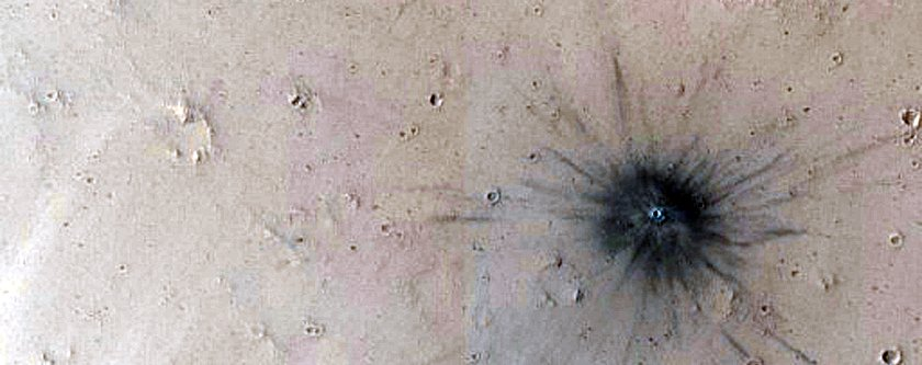 a-recent-impact-crater-on-mars-were-pretty-sure-no-one-put-out-a-giant-cigarette-here