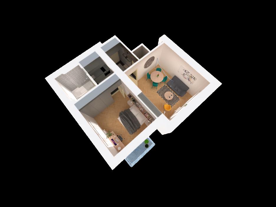 Dispozičná schéma bytu