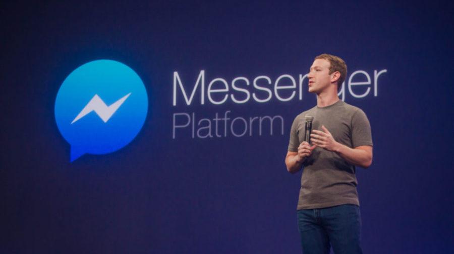 Mark Zuckerberg on stage at F8 2015