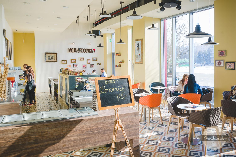 kaviareň interier