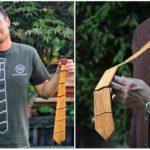 Erik Rybanský čaruje z recyklovaného dreva elegantné kravaty, ktoré si nemusíš viazať