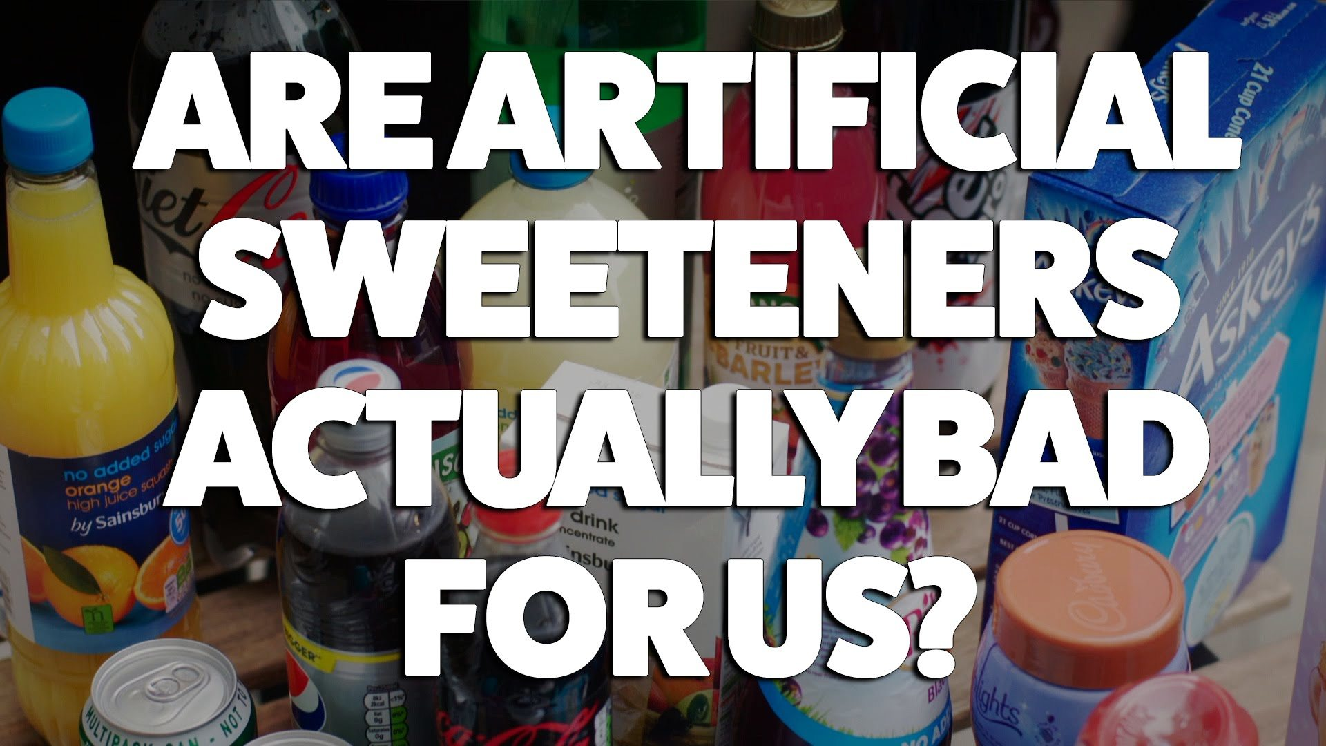 artificial sweeteners are really bad Just how bad is your a professor of medicine explains why he hasn't quit diet soda but so far it suggests that the artificial sweeteners in soda are not.