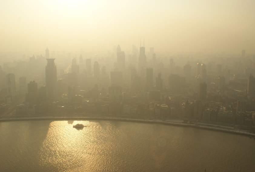 čína smog