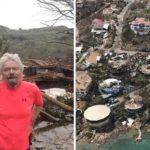 Richard Branson prináša fotografie následkov hurikánu Irma z prvej ruky