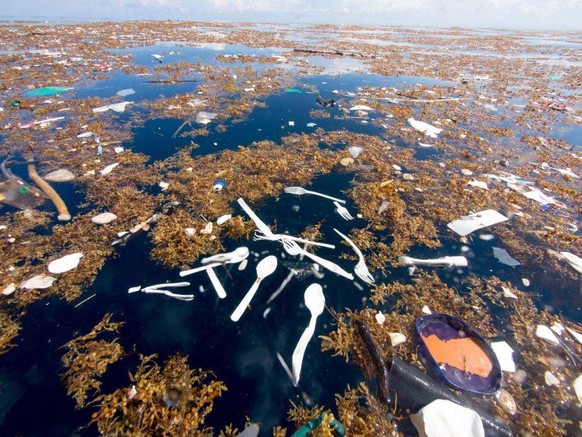 plávajúci odpad