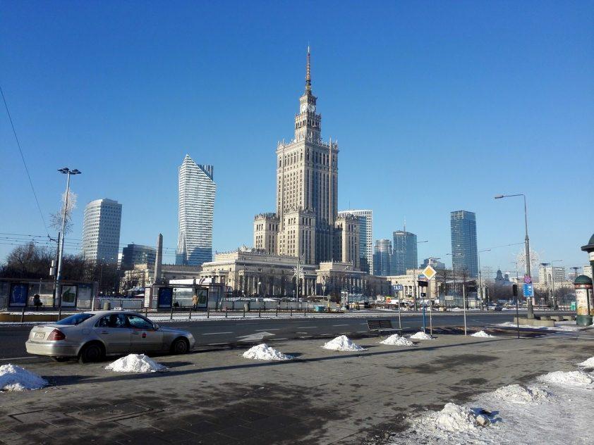 zimný čas vo Varšave