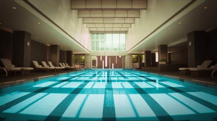 bazén v mrakodrape