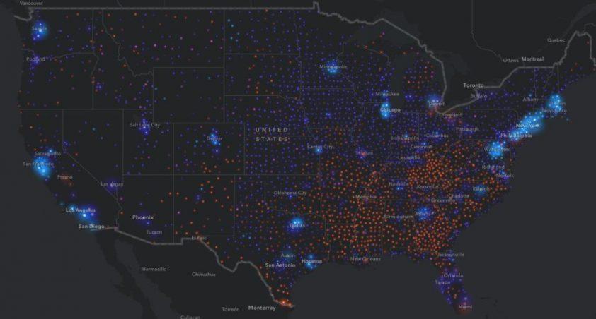 mapy amerika