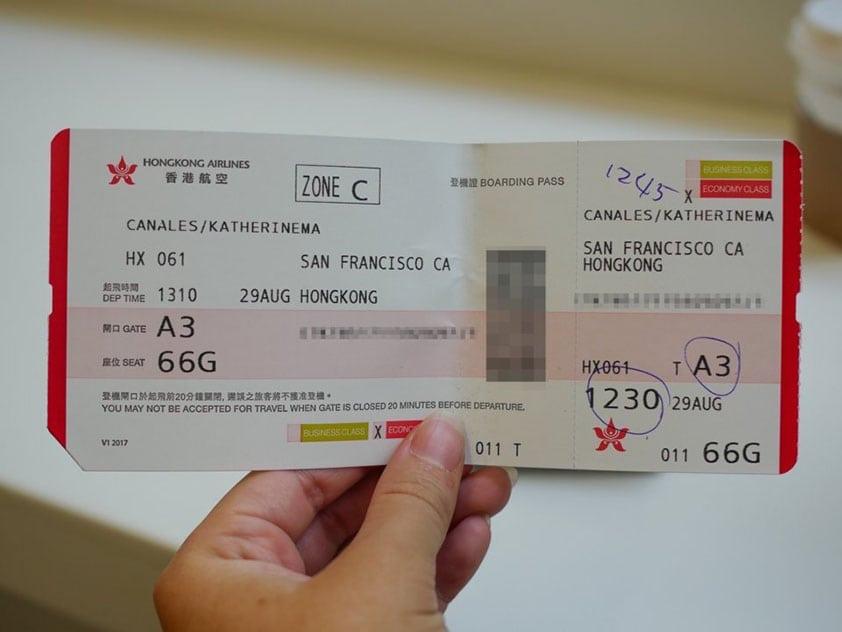 palubný lístok