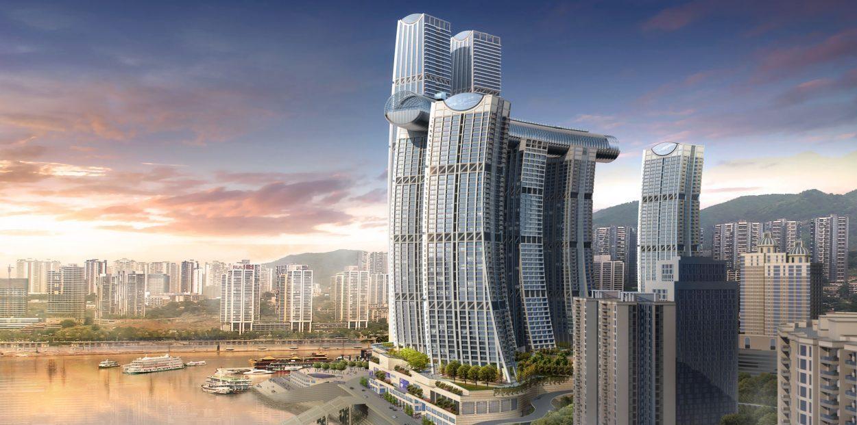 50b2d72ab Čína má na svedomí ďalšie ohromné prvenstvo. Vyrástol tu prvý horizontálny  mrakodrap na svete