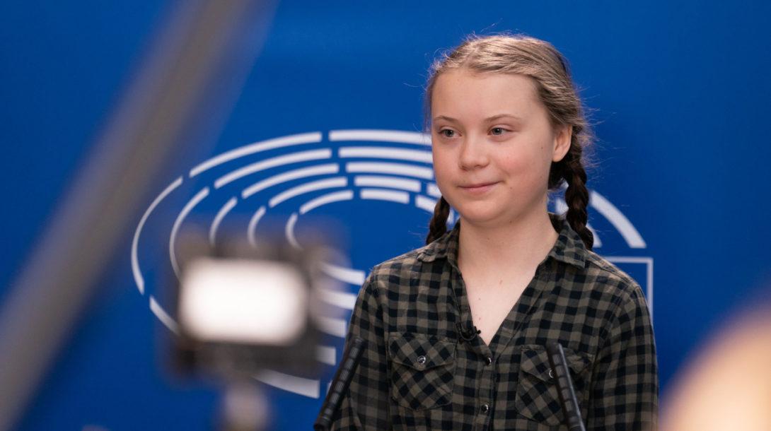 Greta Thunberg (Flickr, European Parliament)