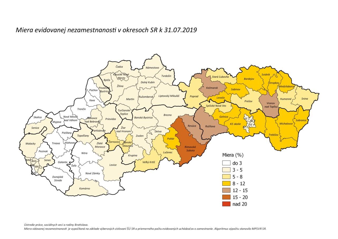 Upsvar mapa nezamestnanosti