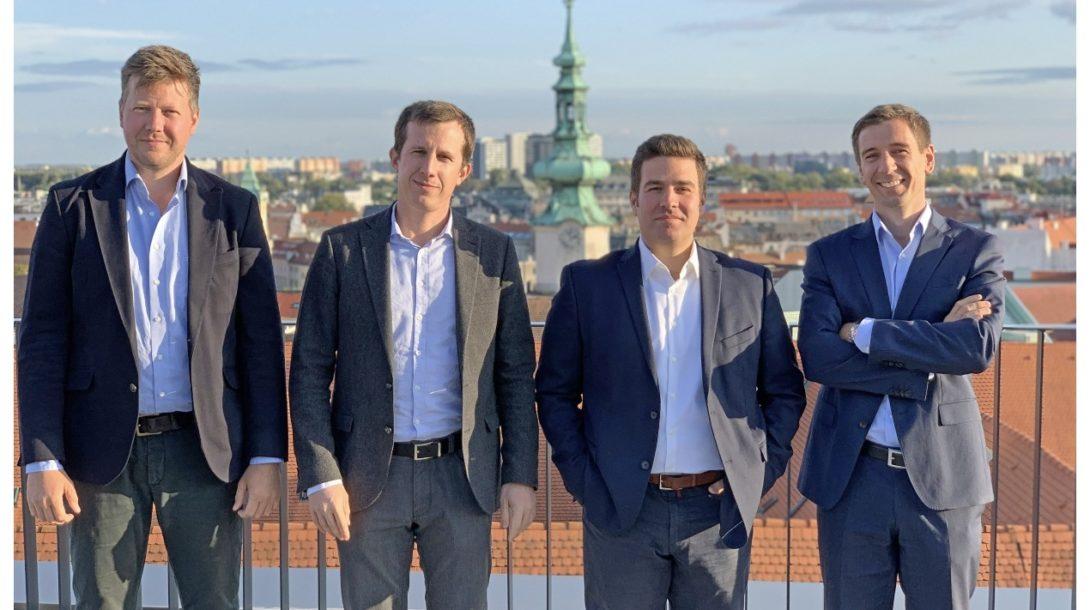Zľava partneri Crowdberry: Daniel Gašpar, Michal Ondrišek, Michal Nešpor, Peter Bečár