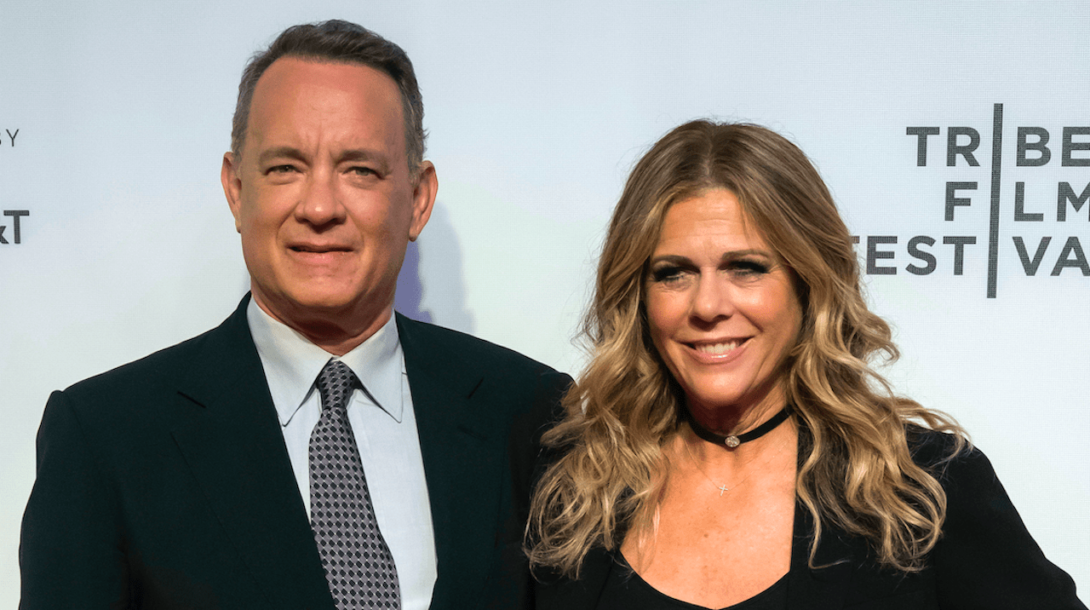 Tom Hanks spolu s manželkou