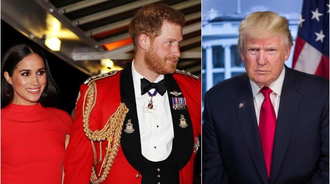 Trump harry meghan