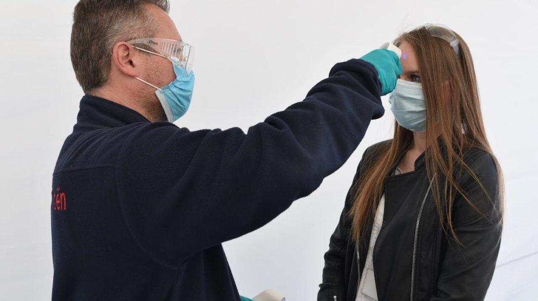 meranie teploty, koronavírus