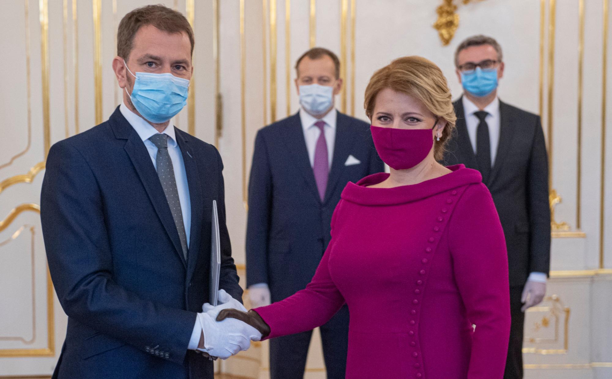Matovič, čaputová, premiér, prezidentka, slovensko,
