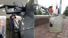 tankovanie, auto benzín