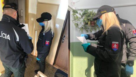 polícia karanténa