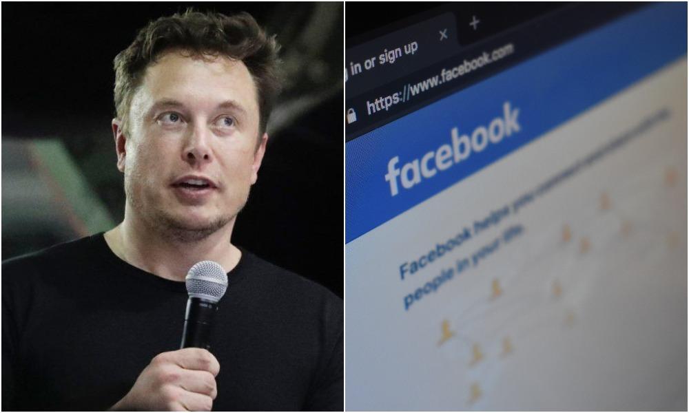 Elon Musk sa obul do Facebooku