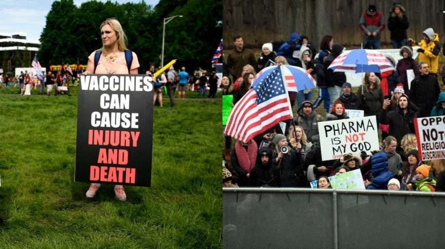 antivax protesty