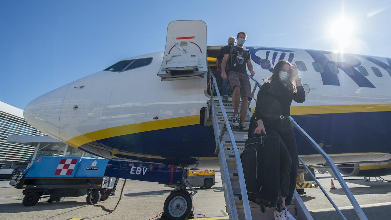 lietadlo Ryanair, cestovanie