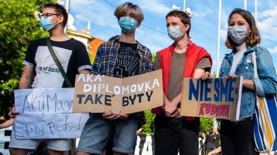 kollár protest študenti