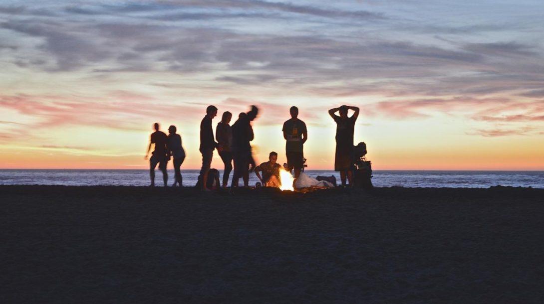 pláž, alkohol
