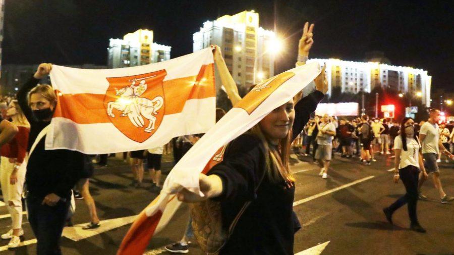 demonštrácie v Bielorusku