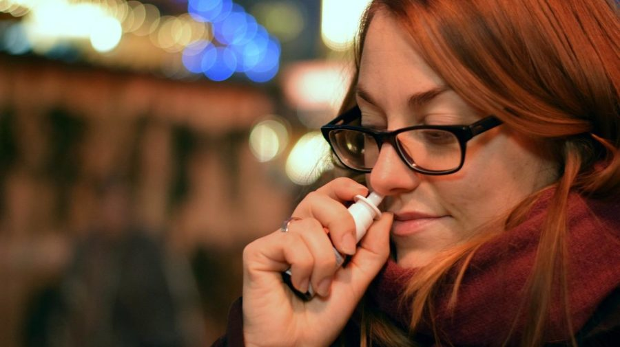 sprej do nosa, prechladnutie, nádcha, chrípka