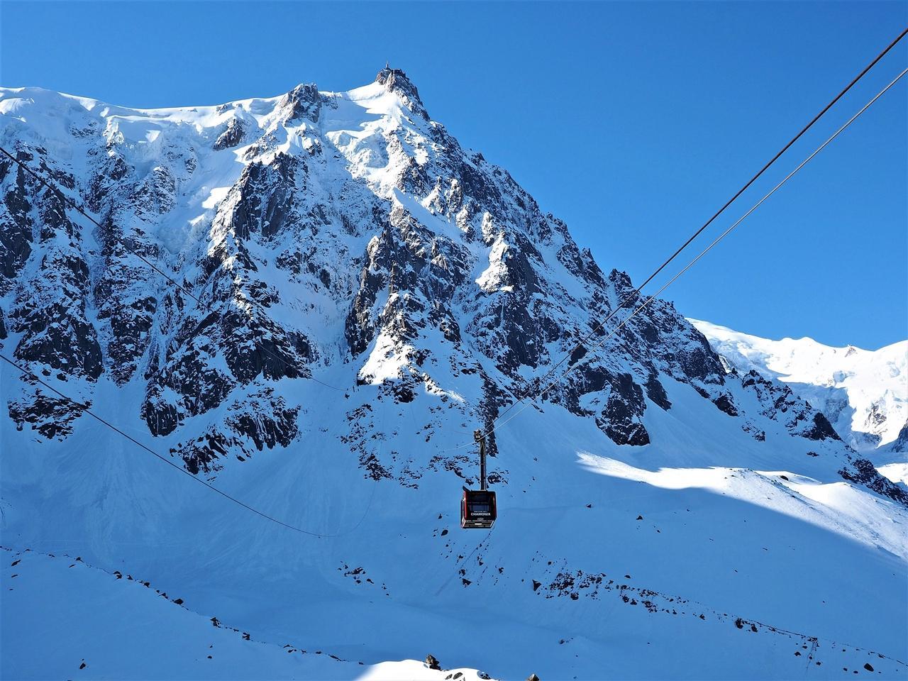 Lanovka na Aiguille du Midi, masív Mont Blanc František Kekely