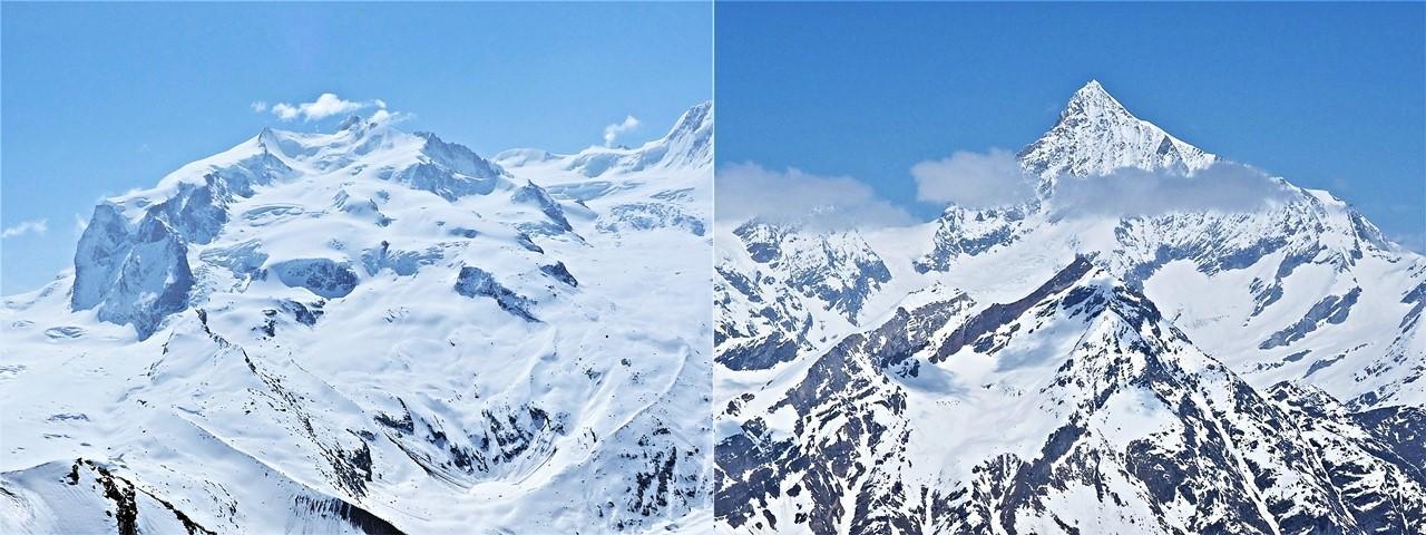 Najvyššie vrcholy v okolí Gornergratu František Kekely