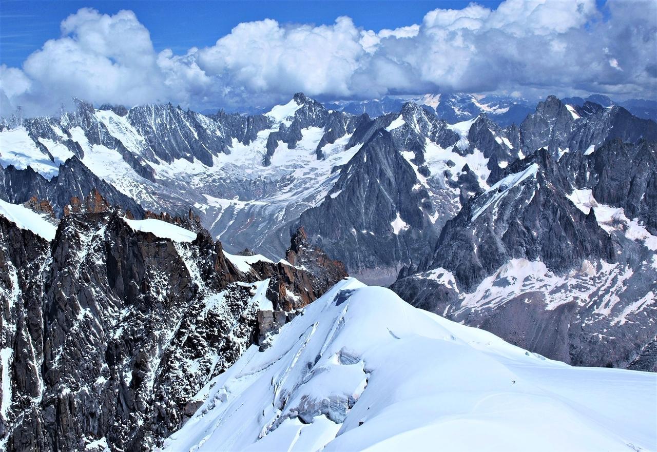 Výhľady z horského masívu Mont Blanc František Kekely