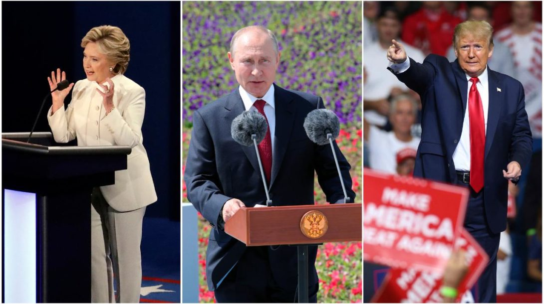 Putin, Clinton, Trump