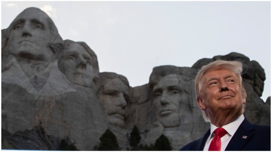 trump and rushmore