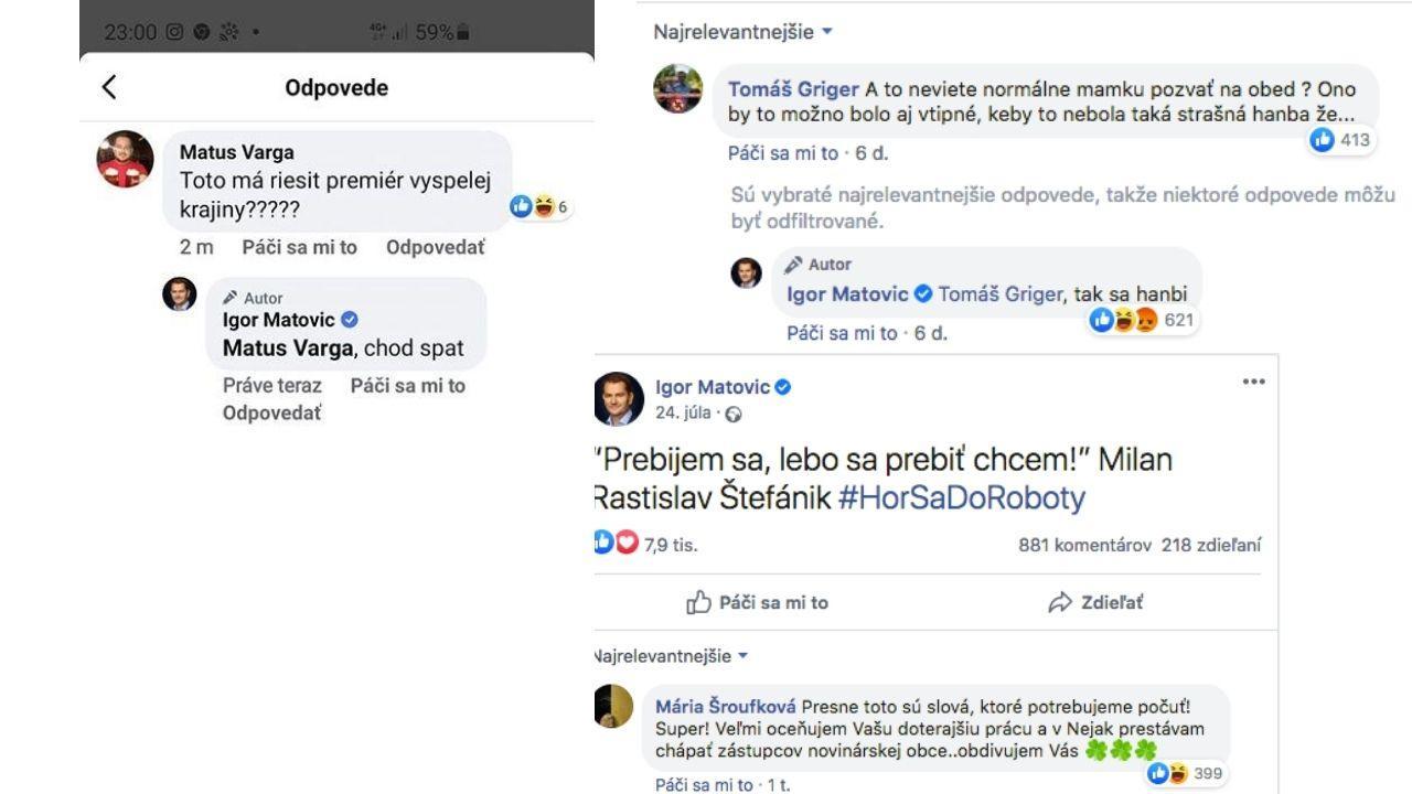 Matovič socialmedia responses