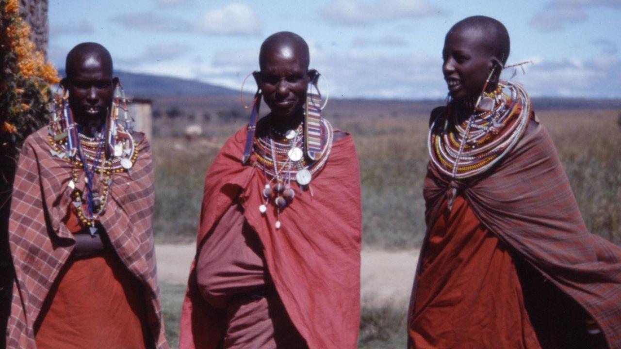 Massai kmeň Afrika