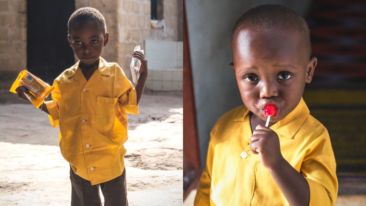 Deti zo škôlky v Gambii