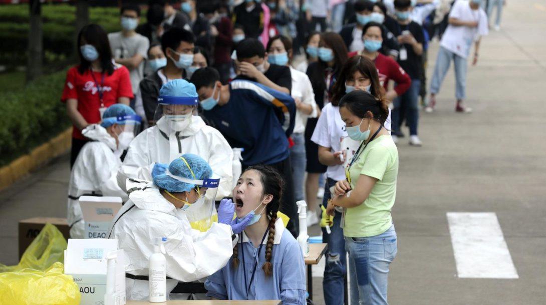 testovanie na koronavírus, Čína