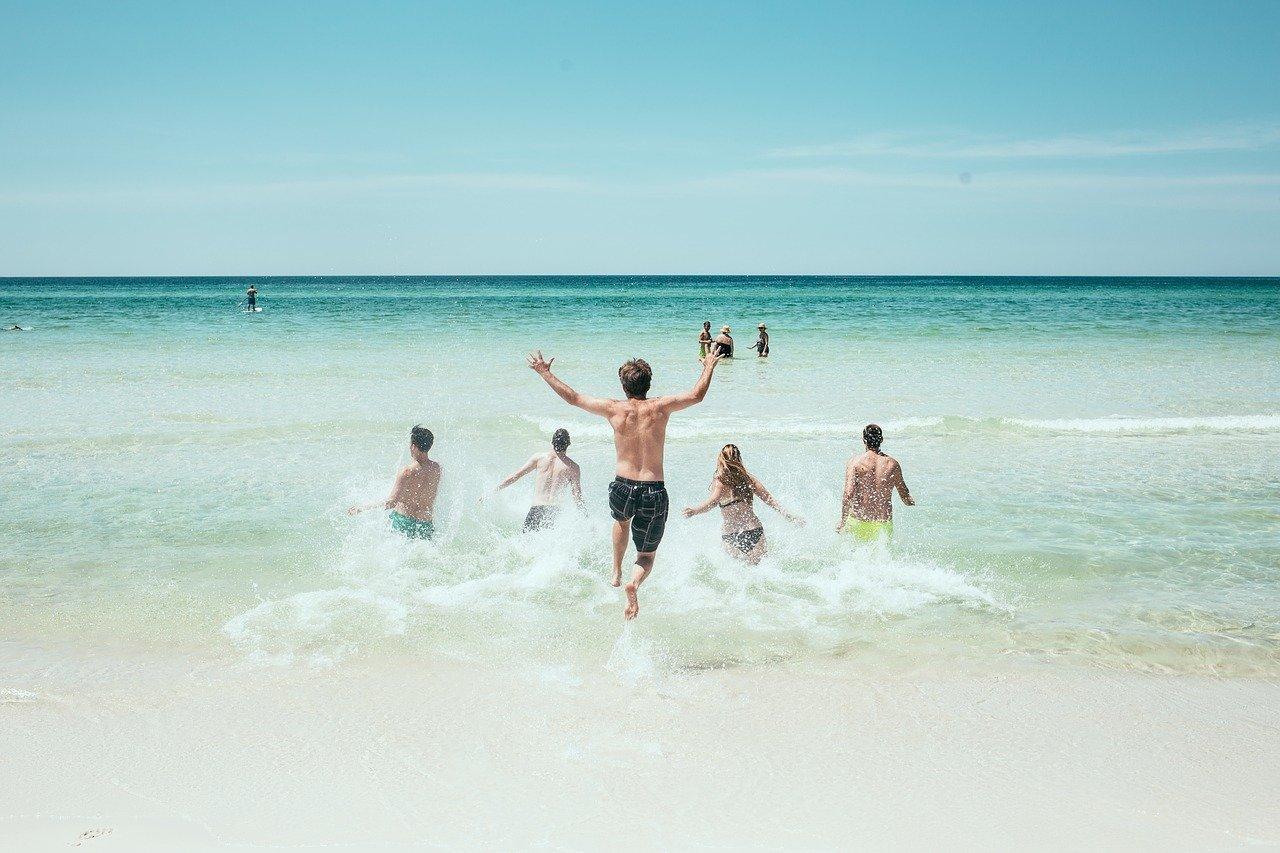 pláž, dovolenka, cestovanie