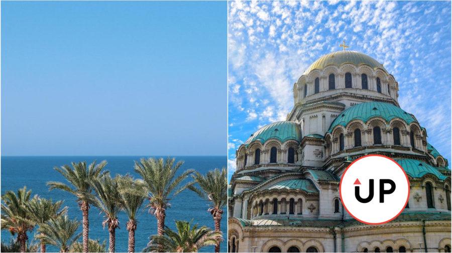 Cyprus Paphos Bulharsko Sofia more dovolenka palmy