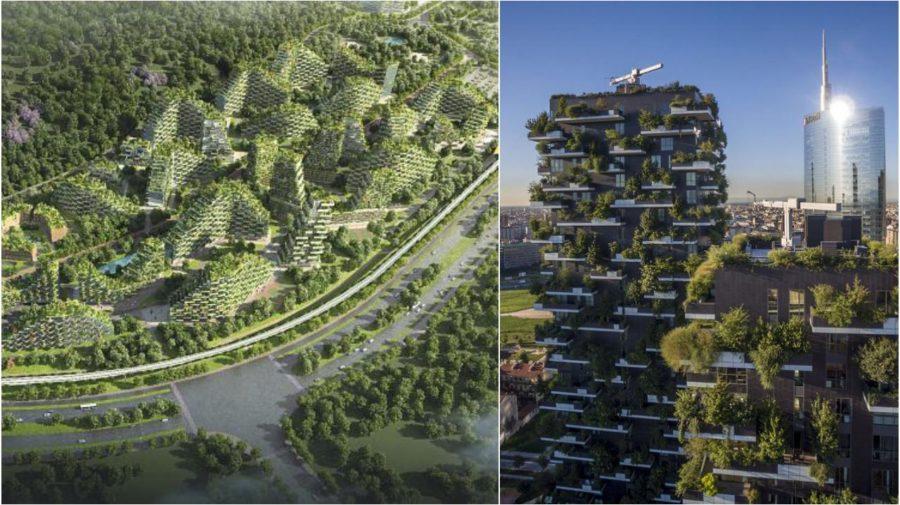 Vertical Forest Towers zelene stavby architektura stromy