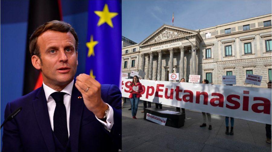 Francúzsky prezident a protest proti eutanázii