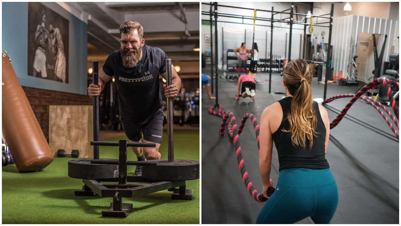 fitká človek cvičenie žena muž