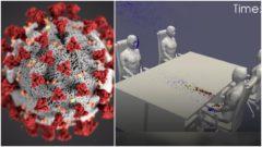 Koronavírus simulácia
