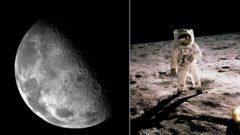 astronaut na mesiaci